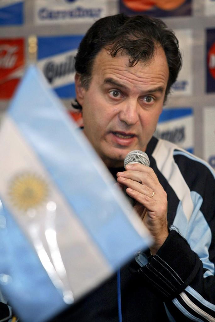 El Loco Bielsa y la Selección, una historia que duró seis años. Foto de Alejandra Brun / Agencia AFP.