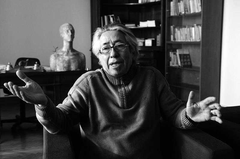 Carlos Liscano, protagonista de aquel partido antes de ser liberado, es hoy el director de la Biblioteca Nacional de Uruguay. Foto de La Diaria.