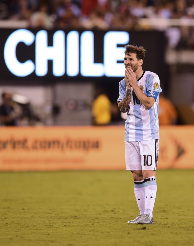 Después de la tercera final perdida con la Selección, Messi dijo adiós. Foto de Alfredo Estrella / Agencia AFP.