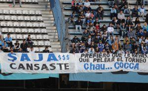 Los hinchas de Racing le pasaron factura a Cocca por su frase antes del partido con Independiente.